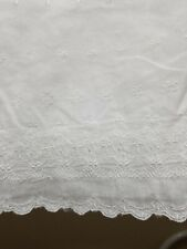 Simply Shabby Chic White Embroidered Shower Curtain Gauzy Valance Top