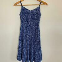 Old Navy Women's Blue Floral Rayon Cami Dress XS A8-17