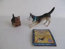 Vintage Siberian Husky Dog Show Champion & Yorkshire Terrier Toy Figure Lot