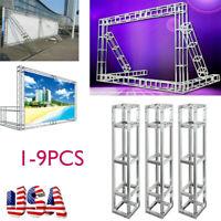 1-9PCS  Trusses Segment DJ Lighting Stage Wedding Mall Truss Frame Stand Kit