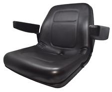 High Back Lawn Mower Seat w/ Armrests Black Gravely, Husqvarna, Hustler
