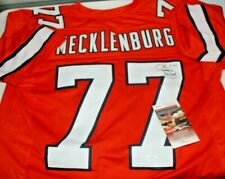Karl Mecklenburg Autographed Signed Denver Broncos Custom Orange Jersey 1 JSA