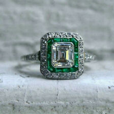 Wedding Ring 925 Silver 3.5Ct Diamond Vintage Art Deco Ring Edwardian Engagement