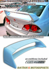 Mu-gen RR Style Rear Trunk Spoiler Wing (ABS) + Emblem Fits 06-11 Civic 4dr