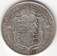 1915 George V Silver Half Crown***Collectors***(2)