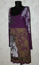 Desigual 47V2012 womens purple brown Celine dress Size XXL