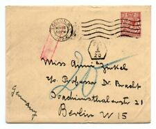 GREAT BRITAIN: Cover London to Germany 1932, postage due.