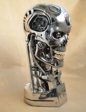 NEW Silver Polyresin Replica 1:1 Terminator Salvation T800 Skull Eye Can Shine