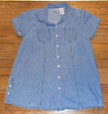 Take Nine Maternity Top Short Sleeve Jeans Shirt Denim Top Size Small