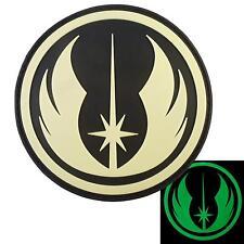 Jedi Order Star Wars Glow in the Dark GITD PVC 3D rubber hook&loop patch
