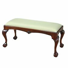 NLR007, Niagara Furniture, Window Bench, Chippendale Bench, Ball and Claw Bench