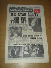 MELODY MAKER 1961 APRIL 8 PETE SEEGER JOSH WHITE CLIFF RICHARD CRAIG DOUGLAS +