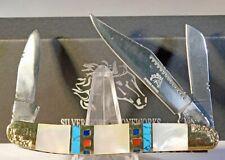 Silverhorse Stoneworks Master Stockman Mother Of Pearl Folding Pocket Knife