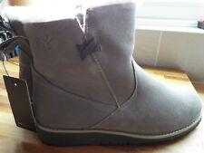 Emu Beach Collection Mini Merino Wool Boots Dove Grey size 4 New & Tags