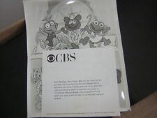 THE MUPPET BABIES PRESS PHOTO W/BIO CBS 1984 VINTAGE  JIM HENSON