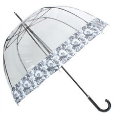 Female mechanical cane umbrella Fulton transparent strict classic style for lady