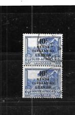 Kenya,Uganda & Tanzania Sc#88 1941 10c Overprint used Old Wwii Stamp Pair