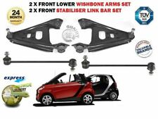 FOR SMART FORTWO 451 2007-> 2X FRONT LOWER WISHBONE ARM + STABILISER LINK BARS