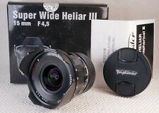 Voigtlander Super Wide-HELIAR 15mm F4.5 ASPHERICAL III for LEICA-M