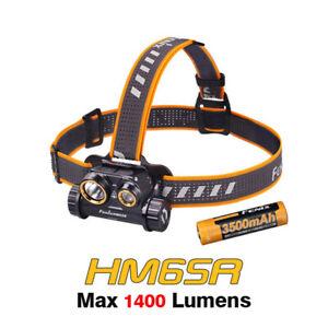 Fenix HM65R Spot and Flood light 1400 Lumens Rechargeable Headlamp Headlight