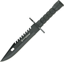 """Smith & Wesson Special Ops Bayonet Knife SW3B Black coated blade. 12 3/4"""" overal"""