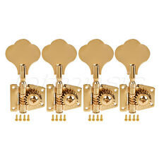 4 String Bass Guitar Tuners Tuning Pegs Keys Machine Heads Open Back 4R Gold