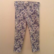 Andrea Jovine, Style Workshop, White With Blue Paisley Print, Jeans Size 12