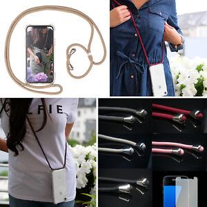Handy Hülle mit Band Schutzhülle Handykette Seil Schnur Case zum Umhängen Kordel