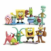 Spongebob Patrick Star anime figure figures Set of 8pcs doll anime collect