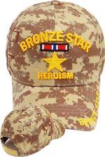 BRONZE STAR Ball Cap Heroism OEF OIF Gulf War Iraq USMC Navy Army Hat DESERT