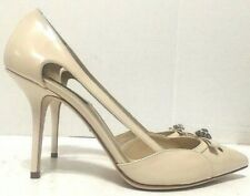 Dolce & Gabbana Heels Nude Patent Leather Pointy Toe Womens Size EU40/US10