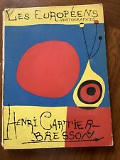 Henri CARTIER-BRESSON, Les EUROPÉENS, Édition originale VERVE 1955 (couv. MIRO)
