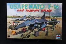 YA009 ESCI 1/48 maquette avion 4078 Usafe Nato F-16 and support group
