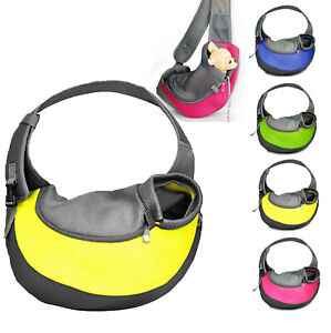 Cute Pet Dog Cat Puppy Travel Carrier Tote Cage Canvas Shoulder Sling Bags New