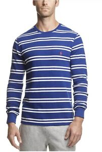 NWT!!Polo Ralph Lauren Men's Striped Waffle-Knit Pajama Shirt 5 Colors SZ XL/XXL