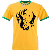 Bob Marley Mens T-Shirt Ringer Reggae Jamaica Wailers Jamaican