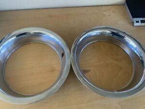 Two Pontiac Chevrolet 15 inch rally wheel trim rings