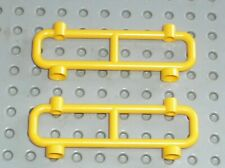 2 x Barriere LEGO yellow fence ref 2486 / Set 6399 6387 7734 6478 7744 7905 7249