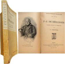 Pierre-Jean de Béranger 1913 Stéphane Strowski chansons correspondance