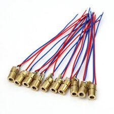 10pcs Red Dot Laser Diode Module 5 Volt 5mw 650nm Heads New