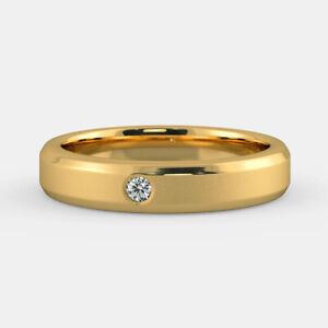 0.11 Ct Natural Diamond Mens Engagement Band 18K Solid Yellow Gold Ring Size 12