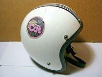 Roper Lanco 1975 Vintage Motorcycle or Snowmobile Helmet 2 Arctic Cat Stickers