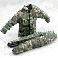 1/6 Scale Uniforms Coveralls Suit Woodland Camo Fit For Hot Toys B005 Body