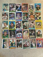 Carney Lansford 30 Card Lot - Red Sox & A's