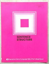 "Vintage 1977 Educational Testing Service ""SENTENCE STRUCTURE"" Exam Test Booklet"