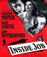 INSIDE JOB pressbook, Preston Foster, Alan Curtis, Ann Rutherford, Joan Fulton