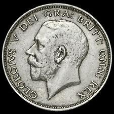1913 George V Silver Half Crown, Rare, VF #2