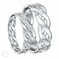 9ct White gold Hand Made Celtic Wedding Ring 5mm 6mm