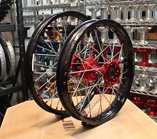 HONDA MX WHEELS CRF450 13-17 SET EXCEL TAKASAGO RIMS FASTER USA HUBS NEW