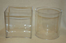 Clear Acrylic Cylinder Vase Lightweight Durable Plastic Small Container 15cm EF 1